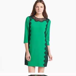 Ted baker Size 1 UK  Green lace shift dress.